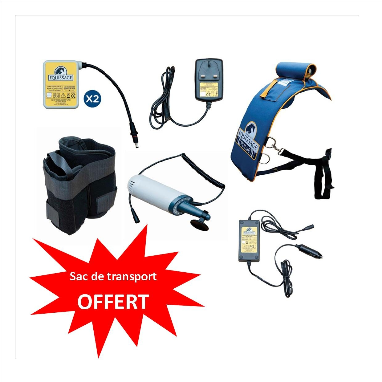 PROMO Pack Sangle de massage Equissage Pulse Pro